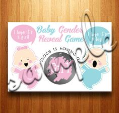 Baby Gender Reveal Scratch Off Cards  by kittycrossbones on Etsy, $8.00