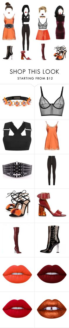 """Scandalous"" by sarahloup ❤ liked on Polyvore featuring Josh Goot, Falcon & Bloom, Balmain, Gianvito Rossi, Acne Studios and Lime Crime"