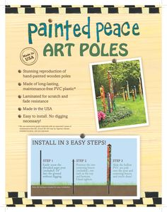 """Love Garden"" Peace Pole from Quirks of Art Peace Pole, Dig Gardens, Garden Poles, Peace Art, Serenity Prayer, Love Garden, Faith Hope Love, 3 Arts, Garden Inspiration"