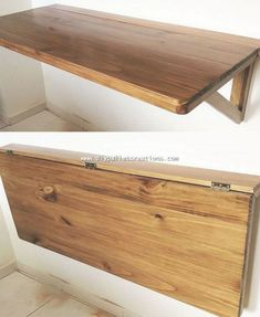 Attractive DIY Ideas with Wood Pallets Setting the wood pallet project of folding shelf piece into your house corner definitely brings about an artistic look into your house. Although this wood pallet folding shelf design is being wisely used for placing Diy Furniture Decor, Pallet Furniture, Rustic Furniture, Home Furniture, Diy Home Decor, Furniture Design, Antique Furniture, Furniture Stores, Modern Furniture