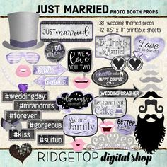 Just Married - Victorian Lilac Photo Props