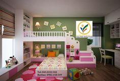 984758bo-phong-ngu-be-gai-dep-giuong-tang-dep-cho-be-gai Kids Bedroom, Bedroom Decor, Kids Rooms, Kids Room Design, Hanoi, Kid Beds, Baby Kids, Toddler Bed, Quartos