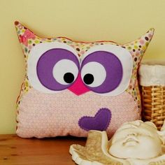 Lily the Owl Pillow.