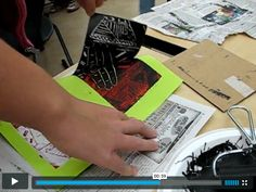Reduction Printmaking Video
