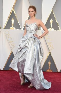 Lily Cole at the 2016 Oscars - The Most Daring Oscar Dresses - Photos