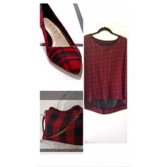 "Red & Black Plaid Top Blouse  DESCRIPTION:  Seven-7's brand women's black and red plaid top blouse, sheer in back, hi low style with long sleeves. Can be worn for work, casually or both. Good preowned condition.  BUST/CHEST:  51"" WAIST:  48"" HIPS:  48"" LENGTH:  24/27"" Seven7 Tops Blouses"