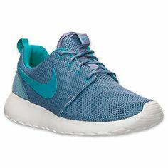Women's Nike Roshe Run Casual Shoes | FinishLine.com | Iron Purple/Tribal  Green