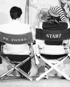 """"""" Barbara Stanwyck and Henry Fonda photographed on the set of The Lady Eve, 1941 """""""