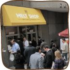 """Melt Shop [Grilled Cheese], voted """"best grilled cheese in NYC"""" was established to cater to the kid inside of everyone. #GrilledCheese #NYC #Retail"""