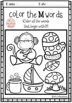 Alphabet Letter of the Week M Letter M Worksheets, Free Kindergarten Worksheets, Worksheets For Kids, Abc Kindergarten, Alphabet Activities, Preschool Activities, Alphabet Tracing, Preschool Education, Alphabet Letters