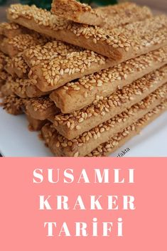 Susamlı Kraker Krispie Treats, Rice Krispies, Cereal, Baking, Breakfast, Food, Recipes, Morning Coffee, Bakken