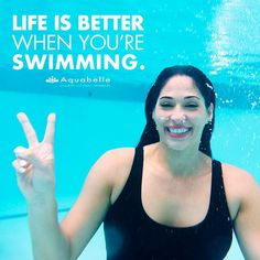 Peace. Love. Swim.  #Aquabelle #swimspiration