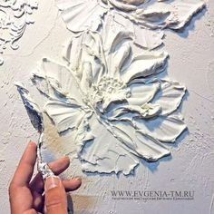 Textured floer painting idea with pallet knife. Альбина Киржаева