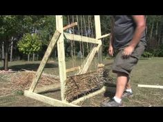 ▶ How to make a grass mat for a blind for duck and goose hunting - YouTube