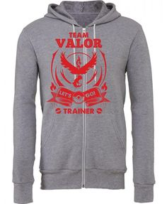 Team Valor - Lets Go Trainer Zipper Hoodie