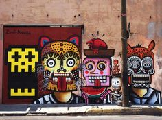 Street Art by Neuzz aka Miguel Mejía. I've been inspired by this a lot, i love how they did on the street, and this man is just amazing, he put so many detail on his work and this is just stunning. I've spent half of the years when i was in USA to study about Mexican culture, and this must be the best thing i've discovered