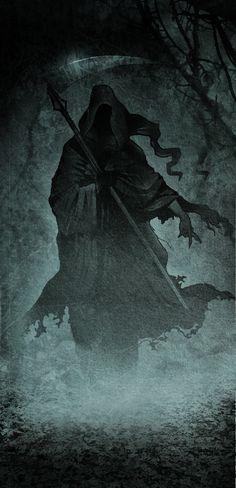 Grim Reaper by edde Death Reaper, Grim Reaper Art, Don't Fear The Reaper, Arte Horror, Horror Art, Dark Fantasy Art, Dark Art, Reaper Tattoo, Arte Obscura