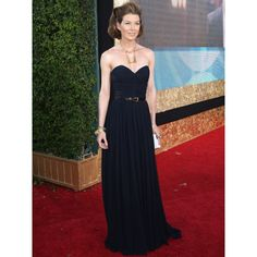 Ellen Pompeo Black Strapless Custom Prom Dress 2007 Emmy Awards Red Carpet