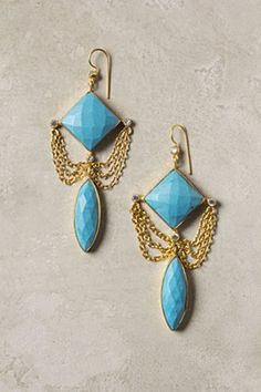 Fringed Turquoise Drops   Anthropologie.eu