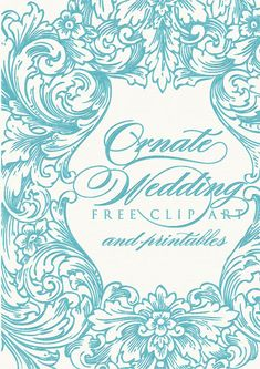 Wedding clipart and printables