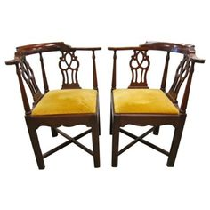 Check out this item at One Kings Lane! Giorgian Chippendale Roundabout Chairs