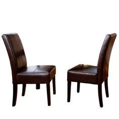 BLACK FRIDAY DEALS 65 Percent OFF Best Selling Chocolate Brown T-Stitch Leather Dining Chair