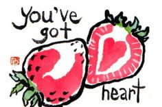 dosankodebbie's etegami notebook: feeling strawberry