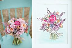 custom bouquet paintings