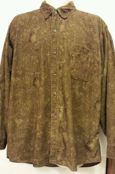 Red Head Mens corduroy Sz Large brown long sleeve button up deer hunting shirt in Clothing, Shoes & Accessories | eBay