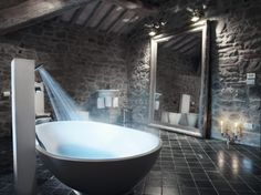 Perfect for me.  A bath with shower capabilities.