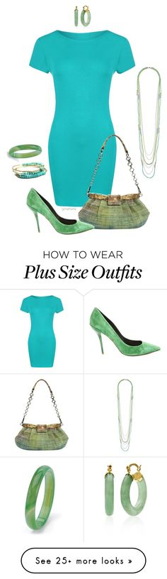 """Spring time!- plus size"" by gchamama on Polyvore featuring WearAll, Prada, Roger Vivier, Belk & Co. and Palm Beach Jewelry"