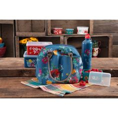 The Pioneer Woman Lunch Tote With Water Bottle Multiple