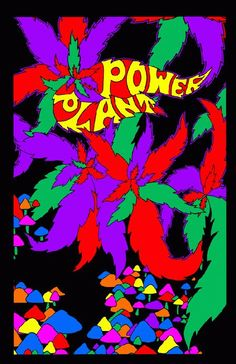 High quality reprinted psychedelic art print poster titled Power Plant from 1968. 11 x 17 high quality reproduction on card stock.