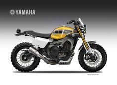 Yamaha Cafe Racer by Oberdan Bezzi Yamaha Cafe Racer, Motos Yamaha, Yamaha Motorcycles, Custom Motorcycles, Custom Bikes, Cafe Racers, Moto Street Tracker, Tracker Motorcycle, Moto Cafe
