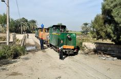 Railroad at channel of Nile