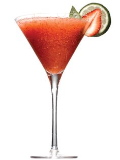 Strawberry Basil Margarita - Cosmo Cocktails - Cosmopolitan