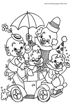 Clown coloring pages-activity for the kids?