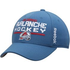0cb44f777c6 Men s Colorado Avalanche Reebok Blue Center Ice Locker Room Structured Flex  Hat