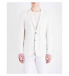 HARDY AMIES Single-Breasted Twill Jacket. #hardyamies #cloth #blazers