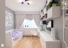 Projekt aranżacji wnętrz pokoju dziewczynki. Głogów - Pokój dziecka - zdjęcie od kreska.studio