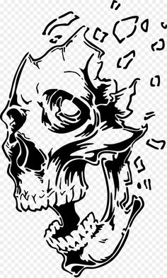 Airbrush Designs, Airbrush Art, Skull Stencil, Stencil Painting, Badass Drawings, Art Drawings, Stencil Templates, Stencils, Pirate Skull Tattoos