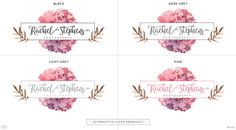 Premade Branding Kit Rachel Premade Logo