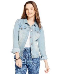 Style & Co. Denim Jacket, Blossom Wash