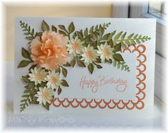 Mainly Flowers Independent Stampin' Up! Demonstrator Joanne Gelnar: Peach Carnation - using punches Paper Cards, Diy Cards, Flower Cards, Paper Flowers, Scrapbook Cards, Scrapbooking, Mothers Day Cards, Handmade Flowers, Flower Making