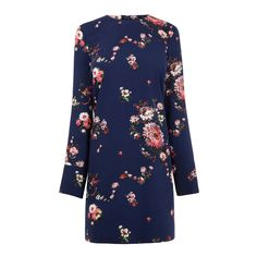 PAINTED FLORAL SHIFT DRESS | Warehouse