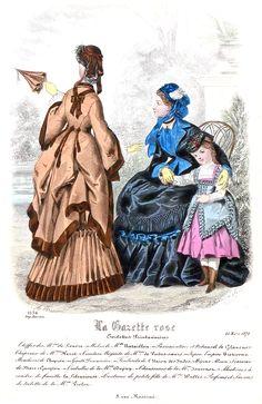 1870s Fashion, Victorian Fashion, Fashion Illustration Vintage, Bustle, Fashion Plates, Fashion History, Westerns, Paris, 19th Century