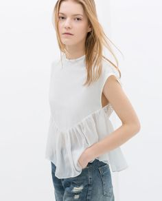 ZARA - WOMAN - TOP WITH FRILL