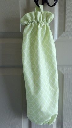 Light Green Quatrefoil Grocery Bag Holder / Grocery by mgmarket, $12.50