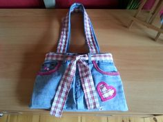 Franzi`s Bag#3 My first handmade Jeansbag is ready...It`s a Birthdaygift to my friend