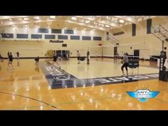Penn State Volleyball Down Ball Drill - The Art of Coaching Volleyball